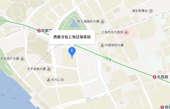 西班牙驻上海总领事馆地图