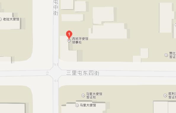 西班牙驻北京总领事馆地图